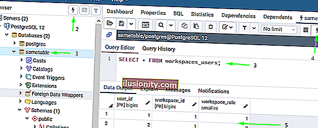 writing sql queries in pgadmin editor