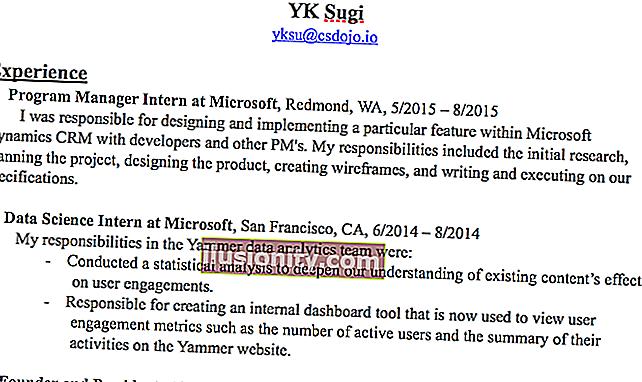 Inilah resume yang saya gunakan untuk mendapatkan pekerjaan di Google sebagai jurutera perisian.